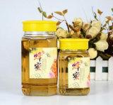 tarro de cristal de la miel de 500g 1000g para el alimento con la tapa plástica