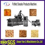 Produção alimentar soprada dos petiscos que faz a máquina