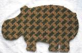 Tierform/formte Leopard-Tiger-Löwe-Schwein-Kuh-Elefant-Hundekatze-Haustier-Fisch-Blumen-Basisrecheneinheits-Coco-Coir-Faser-Kokosnuss-Willkommens-Einstiegstür-Fußboden-Wolldecke-Teppiche