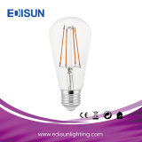 Lámpara ligera del bulbo del filamento LED del LED St64 6W 4PCS