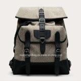 男女兼用のキャンバスデザイナーバックパックの革ハンドバッグ(LDO-16116)