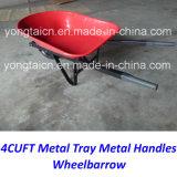 미국 4cuft 메타산 쟁반 금속은 Gardenning를 위한 외바퀴 손수레를 취급한다