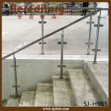 Balcón al aire libre y pórtico que cercan la barandilla de cristal del acero con barandilla inoxidable (SJ-S099)