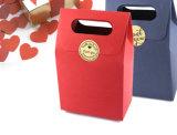 Sacchetto cosmetico rivestito promozionale dell'imballaggio dei monili dell'elemento portante di carta di arte della mano del regalo di acquisto del documento della stampa del Brown Kraft con la corda di nylon del cotone (d44)