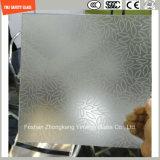 l'impression de Silkscreen de 3-19mm/gravure à l'eau forte acide/se sont givrés/plat de configuration/ont déplié Tempered/verre trempé pour l'hôtel, porte à la maison/guichet/écran de douche avec le certificat de SGCC/Ce&CCC&ISO