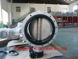 El doble inoxidable de la carrocería de acero ensanchó la válvula de mariposa (D41X-10/16)