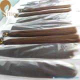 Extensión del pelo humano de la queratina de Remy de la Virgen de la venta de la fábrica