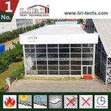 Estructura especial del diseño 15X15m del cubo en tela negra del PVC