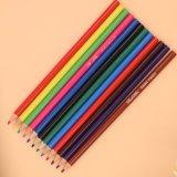 crayons en plastique de la couleur 12PCS dans la forme ronde avec l'extrémité affilée