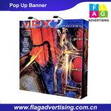 3X3 ou 3X4 annonçant le polyester sautent vers le haut le drapeau avec la vue en aluminium