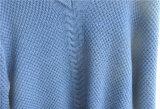 Camisola longa do pulôver do Knit da V-Garganta da luva dos homens