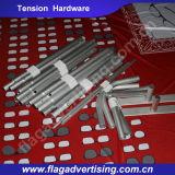 Étalage en aluminium intense de tissu de tension de vente chaude petit