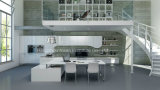 Кухонные шкафы кухни малого лака проекта квартиры блока кухни белые