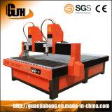 彫版機械CNCのルーターを広告する二重ヘッド