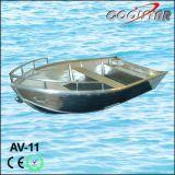 Alles geschweißte Aluminiumboot mit Bogen-Zaun