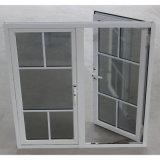 La double glace Kz015 avec le réseau, saupoudrent le guichet en aluminium enduit de tissu pour rideaux