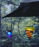 Luz colgante accionada solar de cristal colorida del jardín para las decoraciones del festival