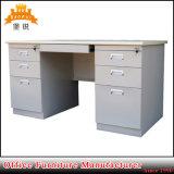 鋼鉄家具の二重軸受けが付いている白いカスタマイズされた金属管理机の管理表のオフィス表