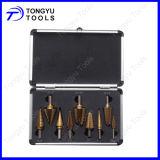 9PCS Straight Flute Step Drill Bit Set