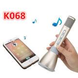 Microphone du prix de gros K068, mini joueur de Bluetooth de microphone de karaoke