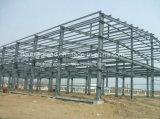 Gruppo di lavoro chiaro della struttura d'acciaio/tettoia prefabbricata di progetto