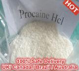 99.5% Местный наркозный сырцовый хлоргидрат прокаина CAS порошка USP35: 59-46-1
