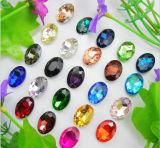 Fábrica de cristal de piedra cristalina de la piedra del diamante del mejor de Pointback Rhinestone cristalino de los Rhinestones (13*18 TP-Ovales)