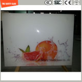 L'impression de Silkscreen de peinture de la qualité 4-19mm Digitals/gravure à l'eau forte acide/se sont givrés/plat de configuration/ont déplié la glace Tempered de sûreté pour le dessus de Tableau avec SGCC/Ce&CCC&ISO