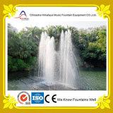 Fonte de água de flutuação ao ar livre da lagoa com os bocais do aço inoxidável