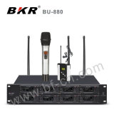 Sistema sin hilos del micrófono del canal multi Bu-880