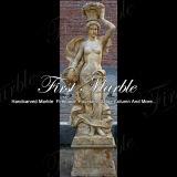Кальций мраморный каменной статуи гранита золотистый статуя Ms-1004 4 сезонов