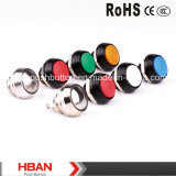 12mm Aluminium Anodized Pushbutton Switch