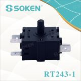 Переключатель 5 положений вращающийся для подогревателя (RT243-1)