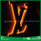 Signalétique de logo de voiture à LED en acrylique de haute qualité
