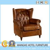Muebles de cuero del sofá de Italia del ocio que cenan la silla