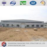 Construcción ligera prefabricada del almacén de la estructura de acero