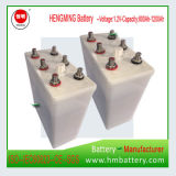 bateria alcalina Ni-CD de 1.2V 500ah para UPS, estrada de ferro, Substation.