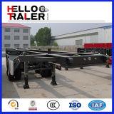 Gemaakt in China 20FT & 40FT de Semi Aanhangwagen van het Skelet van 40 Ton