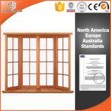 Китайский смычок Windows залива твердой древесины качества изготовления, окно специальности двойной застеклять Низким-E подгонянное стеклом