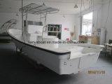 7.6m Fiberglas-Rumpf-Material-Fischerboot mit Mittelkonsole