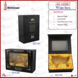 Ruhm Black Wooden Bottle Display Box (6508R1)