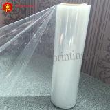 Film en plastique imprimable d'enveloppe de rétrécissement de polyoléfine de pli central pour l'empaquetage
