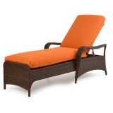 A sala de estar ao ar livre soldada Sun do Chaise do Rattan do frame de alumínio resiste