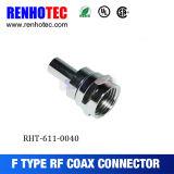Enchufe del conector del cable coaxil F derecho