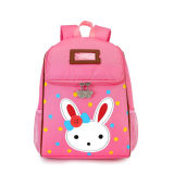 女の赤ちゃんの漫画のウサギの学校のバックパックのピンクの幼稚園の子供袋