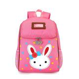女の子の漫画のウサギはバックパックのピンクの赤ん坊の学童袋をからかう