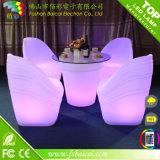 LED moderno que enciende para arriba los muebles ligeros del vector de coctel del vector LED de la barra LED