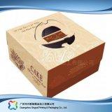 Het Verpakkende Vakje van het Document van het karton voor de Cake van het Voedsel (xc-fbk-027)