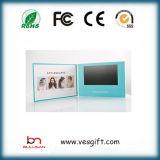 LCD 5インチのビデオパンフレットの挨拶状