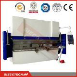 Máquina de dobra de cobre hidráulica da folha do CNC, taxas do freio Wc67k-125t3200mm da imprensa da folha do CNC do metal